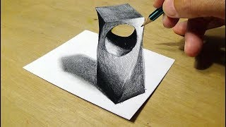 How to Draw 3D Holey Object - Drawing Holey Object with Pencil by Vamos