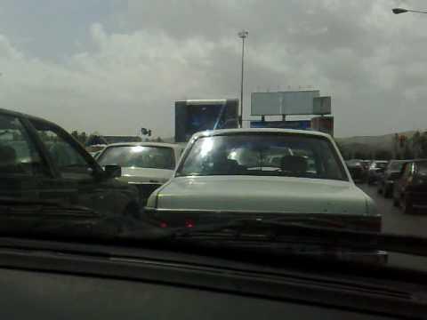 Mashhad, Iran streets form inside a cab + radio Mashhad