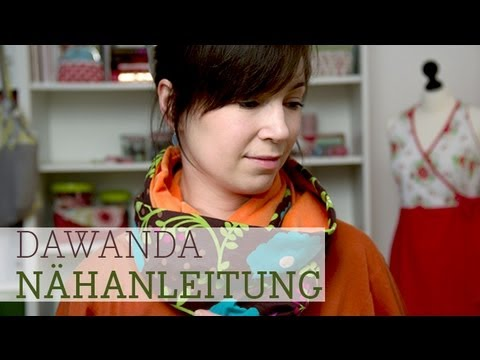 DaWanda Nähschule: Wendeschal Loopschal - YouTube