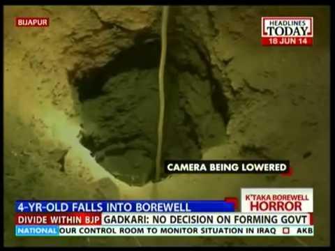 Bijapur: 4-year-old stuck 25 ft deep inside a borewell ...