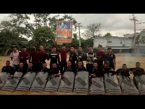 สำนักงานตำรวจแห่งชาติเข้าร่วมแข่งขันการโชว์หน้าประธานและกองเชียร์พิธีเปิดงานกีฬากองทัพไทย
