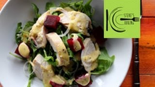 Chicken, Pickled Beet Salad With Horseradish Peppercorn Mayonnaise (stevescooking)
