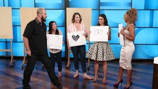 Lea Michele and Mel B Impressed with Magic Tricks by Magician Jon Dorenbos