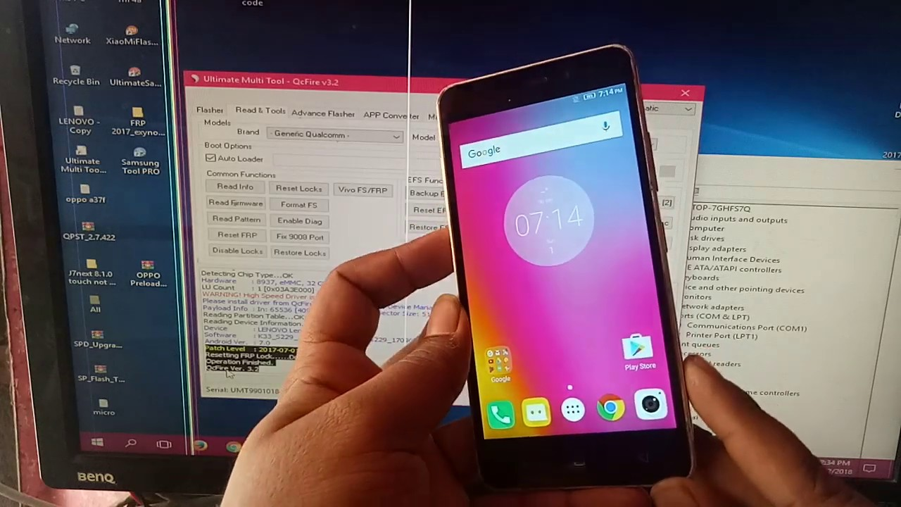 LENOVO K33a42 K6 FRP RESET AND REMOVE 100% DONE BY UMT