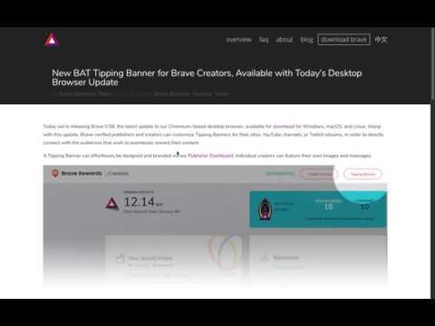 Flash Altcoins Informativo Basic Attention Token Bat Brave Habilita Propinas En Bat