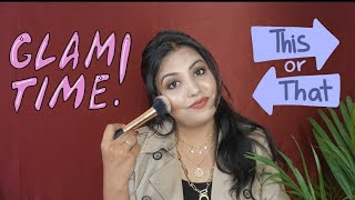 Makeup with Products that you selected || This or That Challenge || Simple Makeup Look