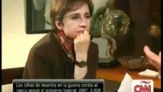 Carlos Fuentes con Carmen Aristegui