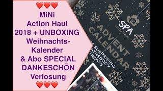 MiNi Action Haul Weihnachtskalender 2018 + UNBOXING & Abo SPECIAL DANKESCHÖN Verlosung