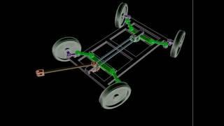 рулевой механизм для двухосного прицепа