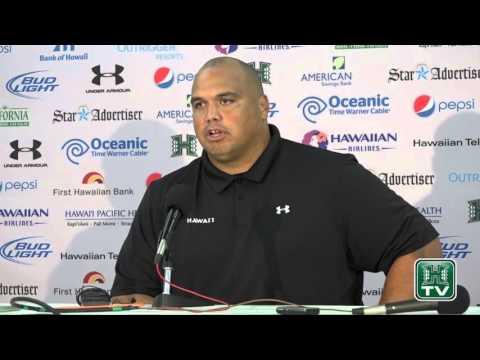 Hawaii Football Post-Game Press Conference Chris Naeole vs. San Jose State 11-21-15