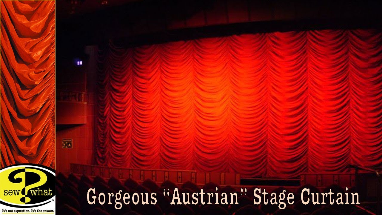 Austrian Curtains Austrian Stage Drape See Its Raising And Lowering