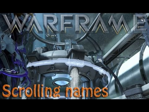 Warframe - Relay Terminal with Tenno names
