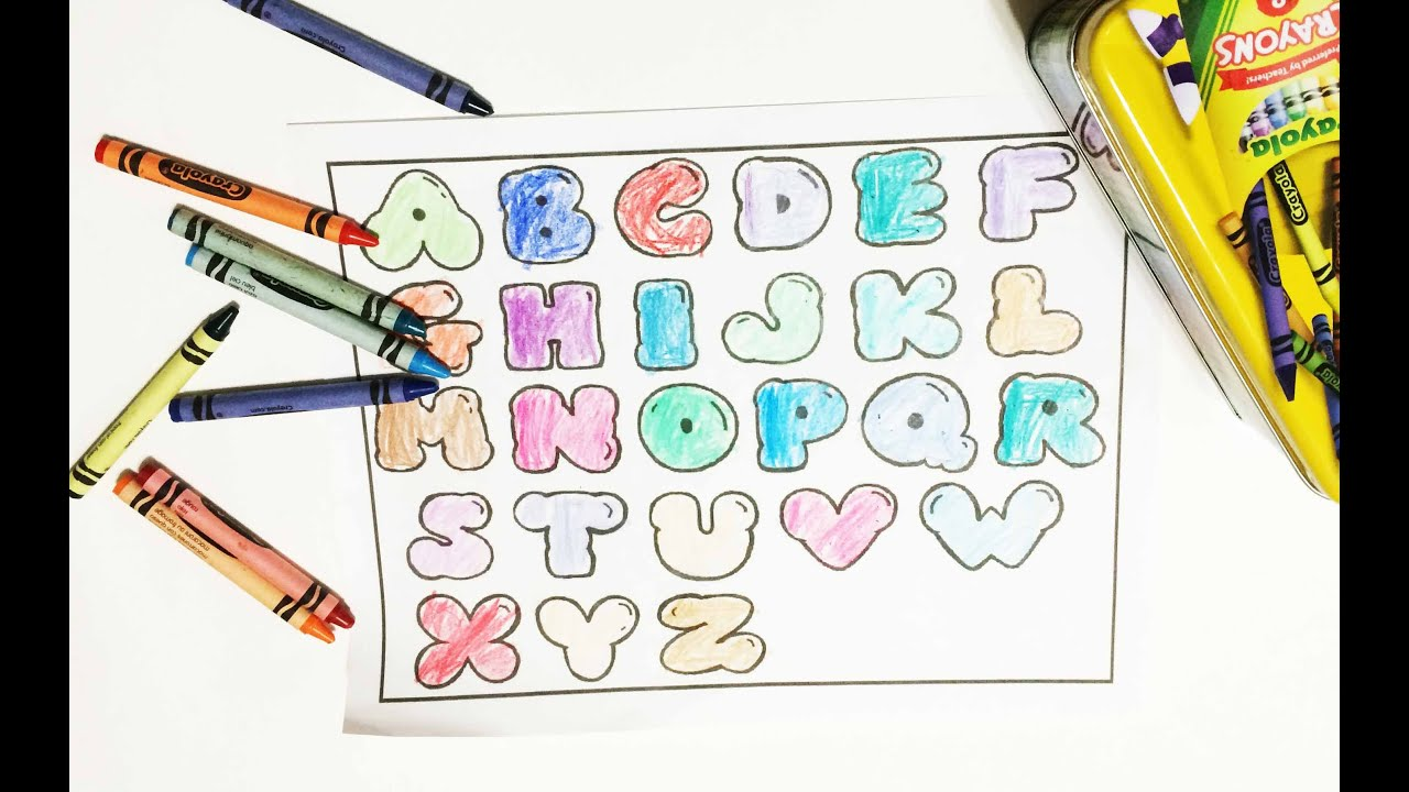 Crayola Crayon Learning ABC phonics by coloring with Crayola