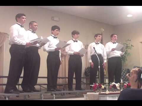 2012 Leesburg Christian School level 3 male vocal essemble