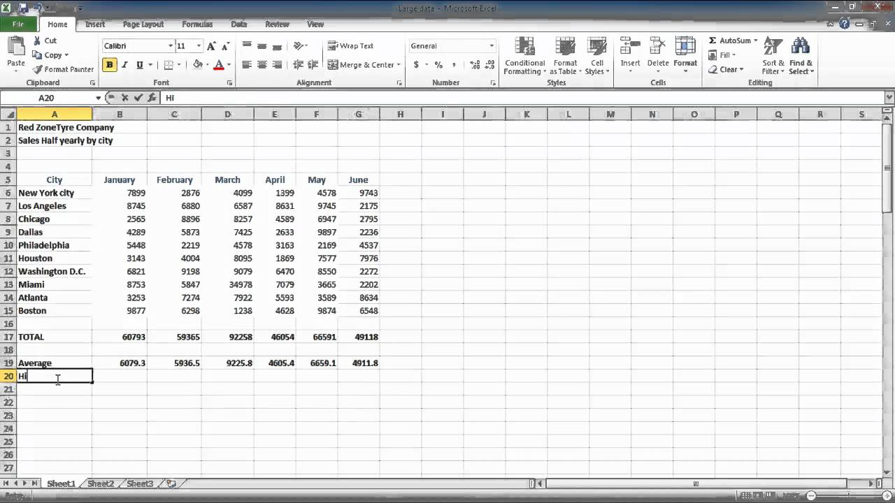 How To Work With Numbers In Columns In Excel 2010