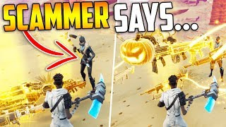 """Playing """"SCAMMER SAYS"""" *INSANE* Experiment in Fortnite Save The World"""