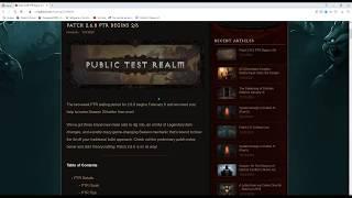 Diablo 3, PTR 2.6.8. zweite Patchnotes, Änderungen, Ende Season 19.