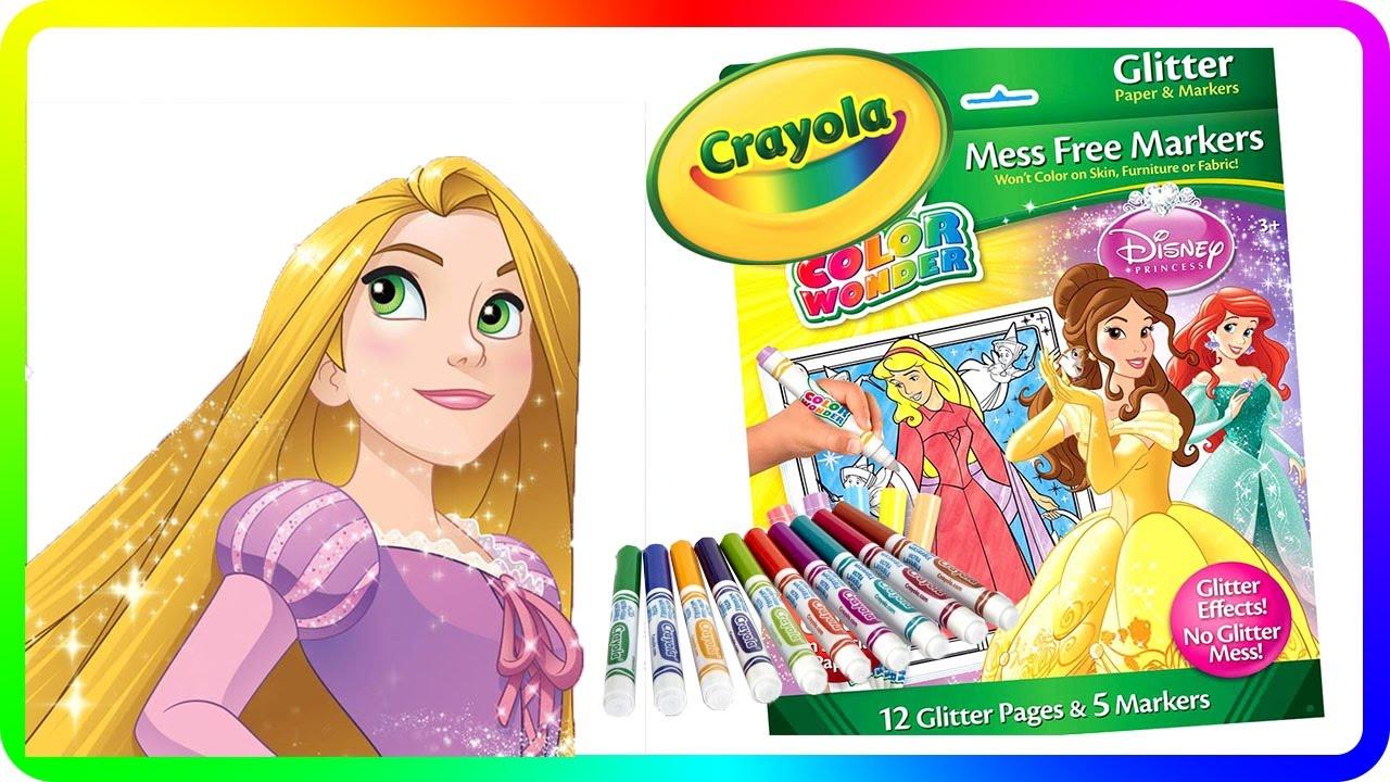 Part 3 - Crayola Color Wonder Disney Princess Glitter Paper and ...
