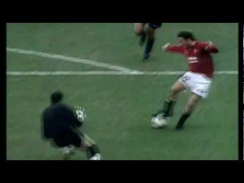 Roma-Torino 1-0 - Grande gol di FRANCESCO TOTTI (6/1/2002) Radiocronaca di Riccardo Cucchi