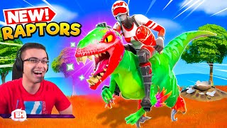Nick Eh 30 reącts to DINOSAURS in Fortnite!