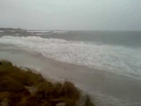 Hurricane Sandy Pounds West Island in Massachusetts