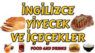 İngilizce Yiyecekler Ve İçeçekler - Food And Drinks In English - Çocuklar İçin İngilizce Kelimeler