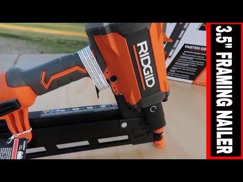 Ridgid 3 5 Round Head Framing Nailer Review Tool Review Tuesday Youtube