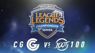 Video CG vs. 100 - Week 3 Day 1 | NA LCS Spring Split | Clutch Gaming vs. 100 Thieves (2018) download MP3, 3GP, MP4, WEBM, AVI, FLV Juni 2018