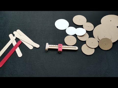 How to cut a perfect circle of cardboard and paper with Ice cream stick