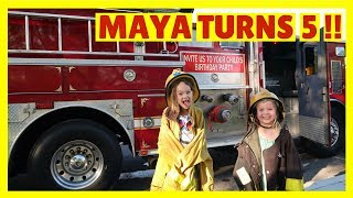 Video HAPPY BIRTHDAY TO MAYA !!! 🚒 Fire Truck + Bounce House PARTY !!! download MP3, 3GP, MP4, WEBM, AVI, FLV Desember 2017