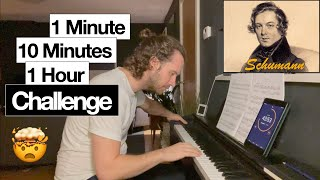1 Min, 10 Min, 1 Hour Piano Challenge: Schumann - Erster Verlust   Adult Piano Progress
