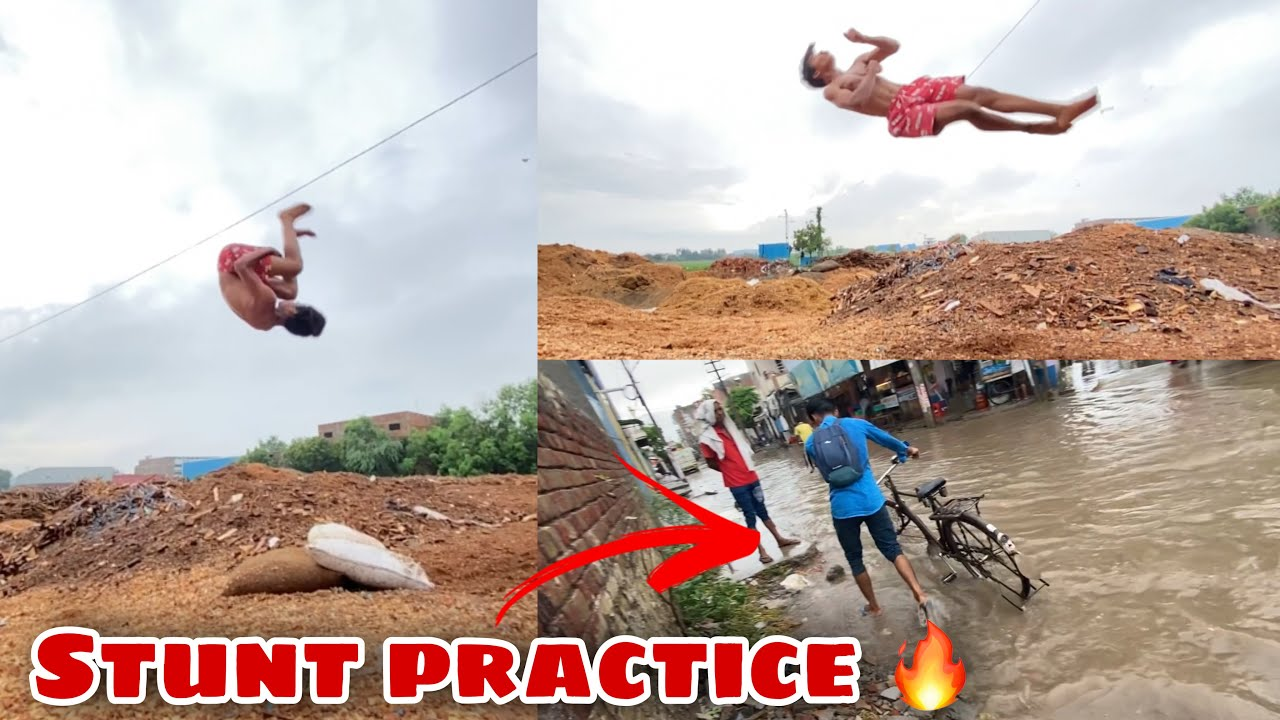 Stunt practice after Long time in rainy season 🔥