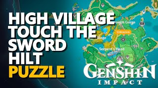 High Village Touch the Sword Hilt Puzzle Genshin Impact