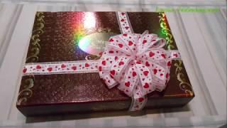 Бант из ленты для упаковки подарка