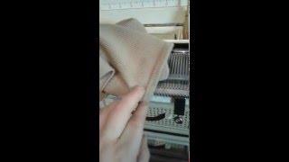 видео Подгибы вязаного полотна