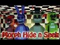 Minecraft | MORPH HIDE AND SEEK - Five Nights at Freddy's! (5 Nights at Freddys, Freddy, Bonnie)