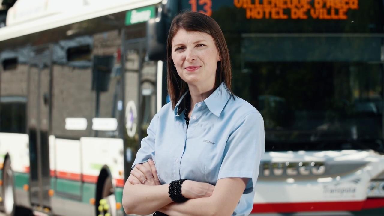 Portrait De Solene Conductrice De Bus A Transpole