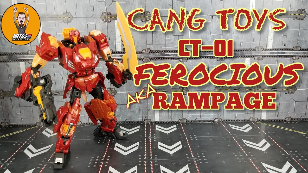 Cang Toys CT-01 Ferocious (Rampage) review By Kato's Kollection