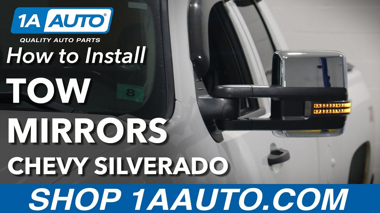 how to replace tow mirrors 07-13 chevy silverado 1500