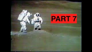 Apollo 16 - Lunar TV Transmissions Part 7 (Station 1 at Plum Crater)