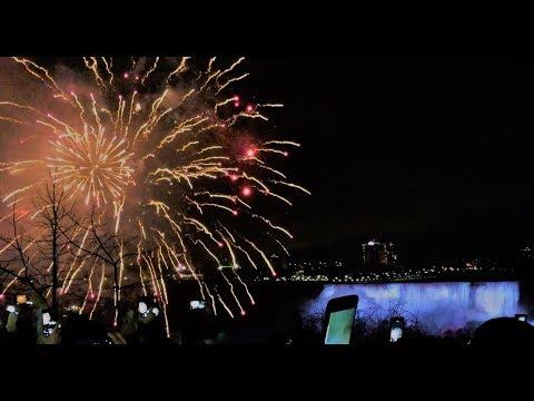 NEW YEAR  || NIAGARA FALLS LIGHTS AND FIREWORKS || USA & CANADA