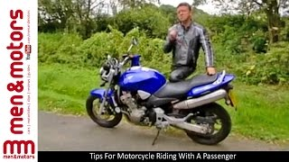 Tips For Motorcycle Riding With A Passenger