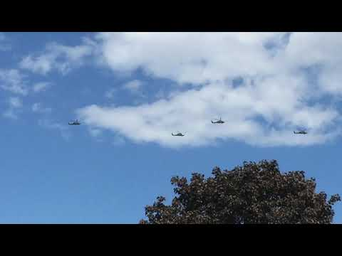 Military Helicopters Fly over New Hampshire