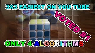 How to Solve 3x3x3 Rubik's Cube: Easiest Tutorial No Algorithms in first 3 Layers!