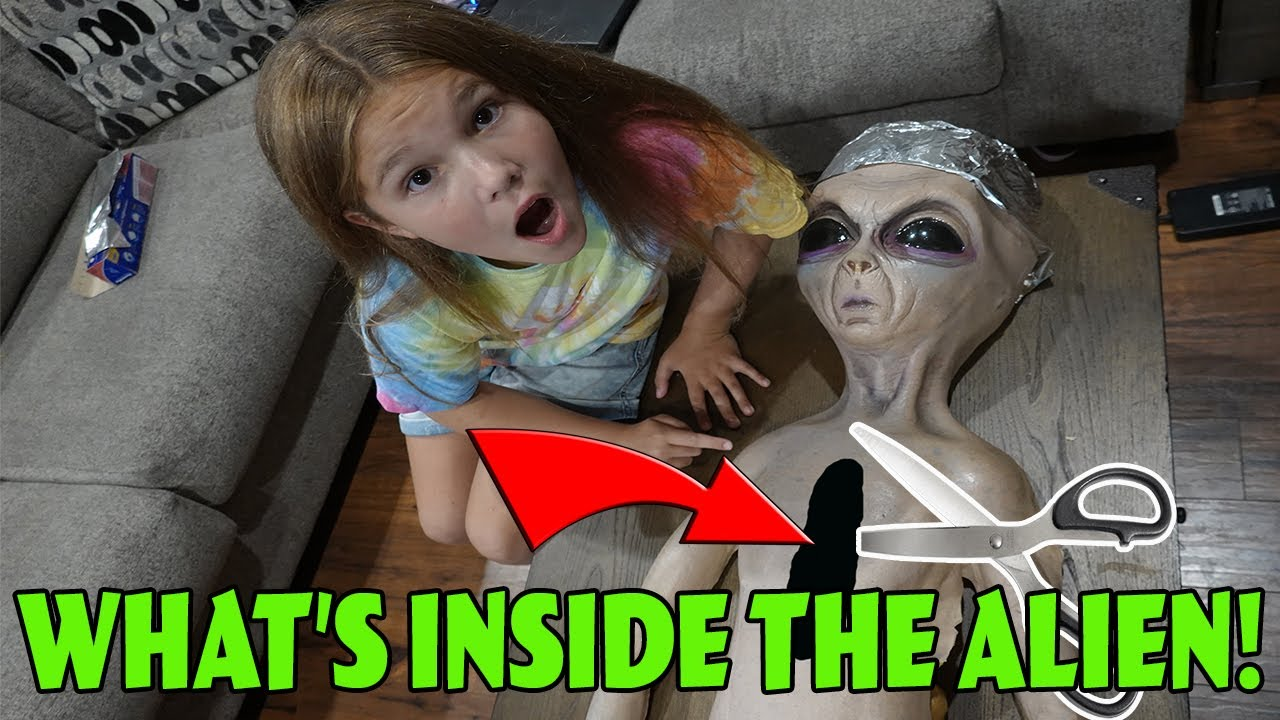 What's Inside The Alien? Cutting Open The Alien In Our Woods!