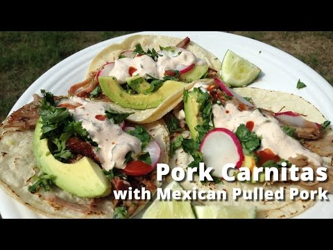 Pork Carnitas Recipe with Mexican Style Pulled Pork Pork Carnitas Tacos Malcom Reed HowToBBQRight