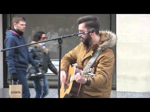 Wish you where here cover by Cezar @Grafton Street, Dublin, Ireland 04. 03.2015