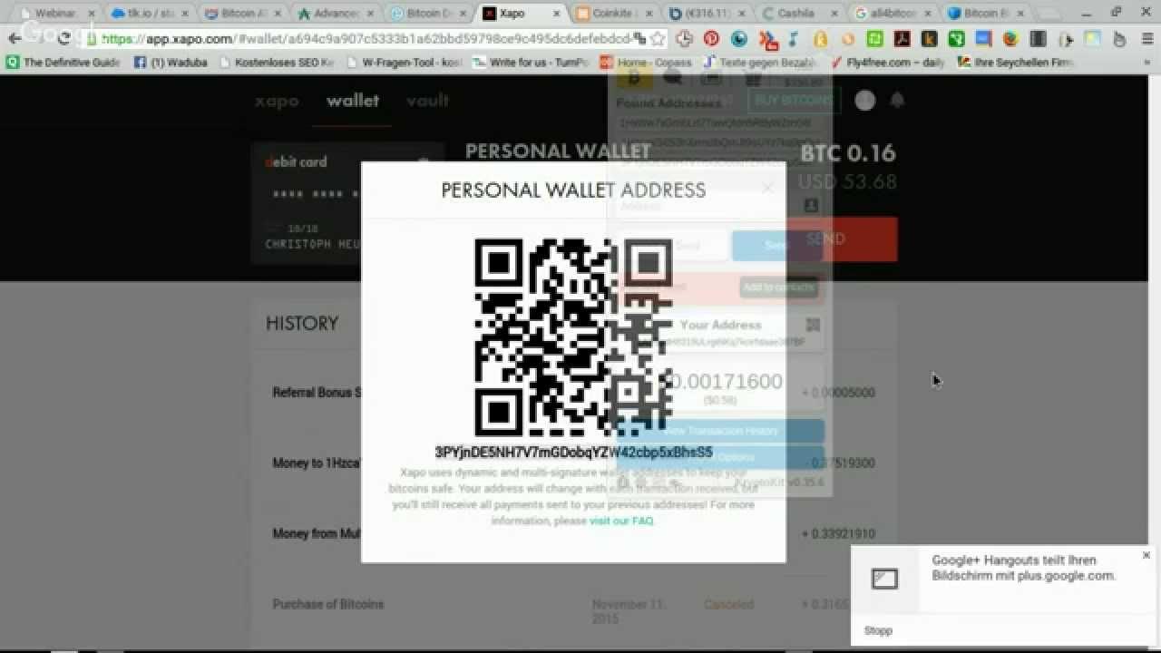Bitcoins Гјberweisen