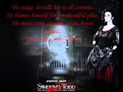 Poor Thing-Sweeney Todd Lyrics OST