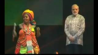 Surprise Welcome to Modi in South Africa